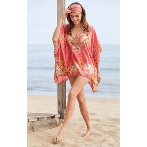 Johnny Was Nephi Floral Silk Top One Size NWT